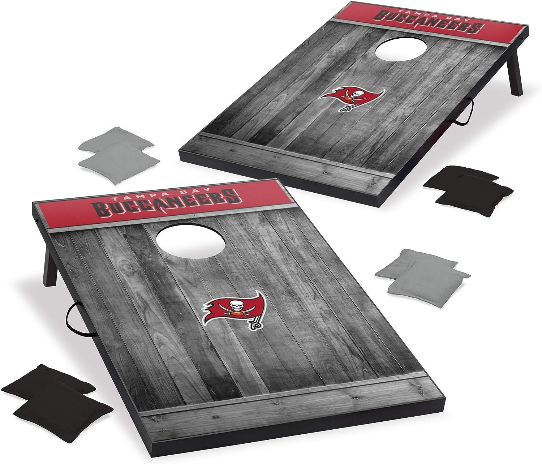 Wild Sports 2'x3' We OFFer at cheap prices MDF Wood NFL Japan Maker New Set Grey Design - Cornhole