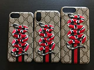 Fashion Luxury Designer iPhone Case Designer Textured Street Fashion Hypebeast Collab Case (Snake, iPhone Xr)