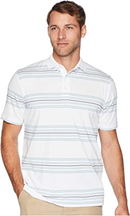 Regimental Space Dye Striped Polo