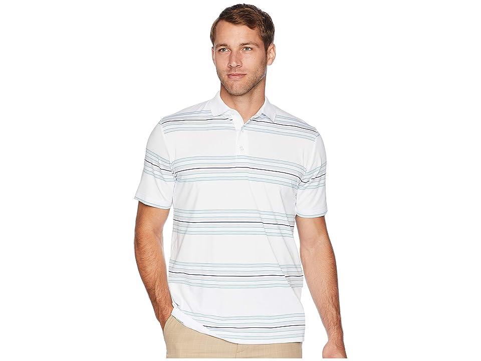 Callaway Regimental Space Dye Striped Polo (Bright White) Men