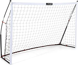 Lanos Portable Soccer Goals for Backyard, Lightweight Soccer Net with Pre-Connected Posts, Carry Bag - Premium Soccer Goal...