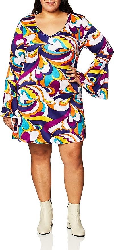 Plus Size Retro Dresses 50s, 60s ,70s, 80s, 90s Charades Womens Disco Hottie Costume Set  AT vintagedancer.com
