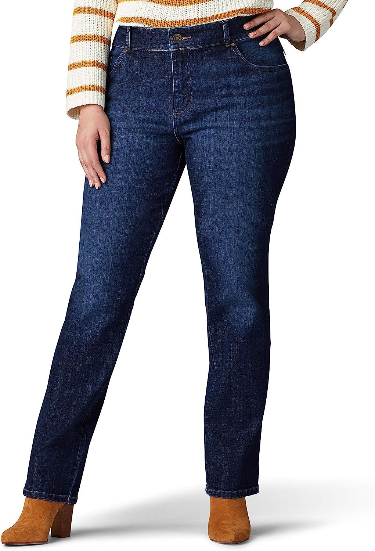 秀逸 Lee Women's Plus Size Relaxed Leg Fit 低廉 Jean Straight
