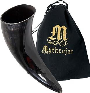 Mythrojan Drinking Horn Authentic Medieval Inspired Viking Wine Mead Mug 1000 ML Multi 300161