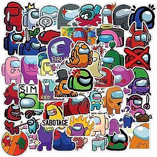 Yuxin Among Us Sticker 50 Pcs PVC Kawaii Sticker, Graffiti Stickers PVC Waterproof Stickers, for Bicycle, Motorcycle, Cars...