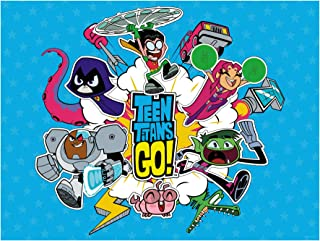 FATHEAD Teen Titans GO Mural-Giant Officially Licensed DC Removable Graphic Wall Decal