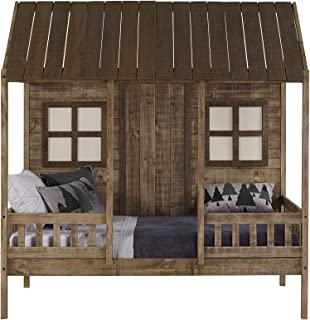 DONCO Twin Front Porch LOW LOFT, Rustic Driftwood