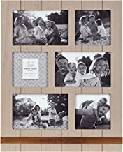 Prinz Quotable 6 Opening Enjoying the Good Life Metal Band Plank Collage Picture Frame, BROWN - LIGHT
