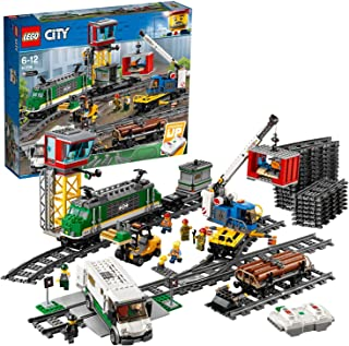 LEGO 60198 Godståg med Järnvägssegment Leksaksset, Flerfärgad