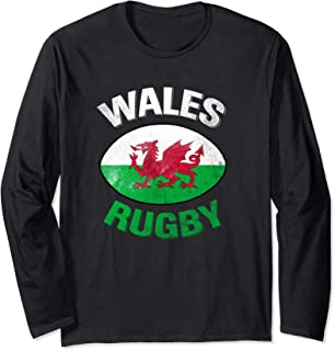 Wales Rugby Long Shirt - Welsh Rugby Shirt with Wales Flag