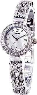 Time100 Women's Luxury Diamond Bracelet Watches Ladies'Pearl Shell Round Dial Watch Wrist Dress Watch For Women