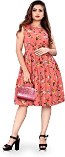 New Ethical Fashion Printed Knee Length Dress for Women_F34
