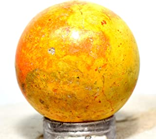 27mm Bumble Bee Jasper Sphere Orange Yellow Natural Mineral Ball Sparkling Crystal Polished Stone - Indonesia