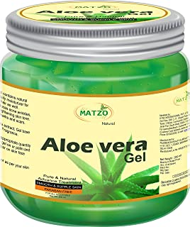 Matzo Natural Organic 100% Pure Aloe Vera Gel for For Young and Radiant Skin, Face and Hair, Paraben Free SLS Free (200 ml)