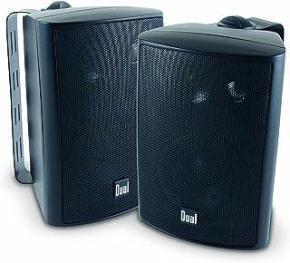 Dual Electronics LU43PB 4 inch 3-Way High Performance Indoor, Outdoor & Bookshelf Studio Monitor Speakers with Swivel-Black