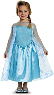 Disguise Disney Elsa Frozen Toddler Girls' Costume, 3T-4T, Blue