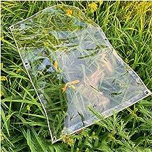 Pujindu Waterbestendig Zeildoek Transparant Tarp, Flexibel PVC Plastic Hoes Met Oogjes for Camping Dak Luifel Tuin Multifu...