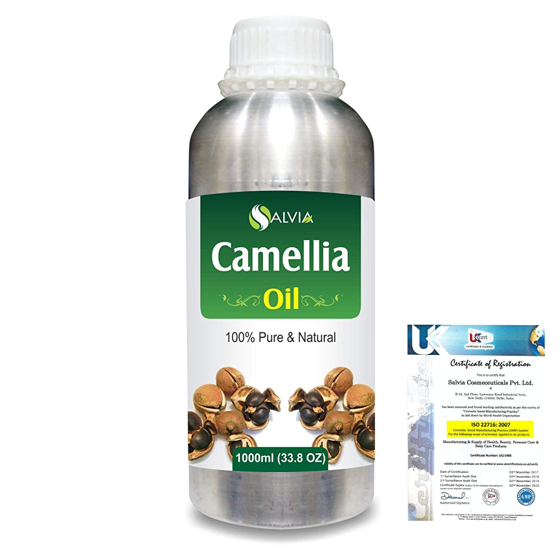 強調する性格名前でCamellia (Camellia Sasanqua) 100% Natural Pure Essential Oil 1000ml/33.8fl.oz.
