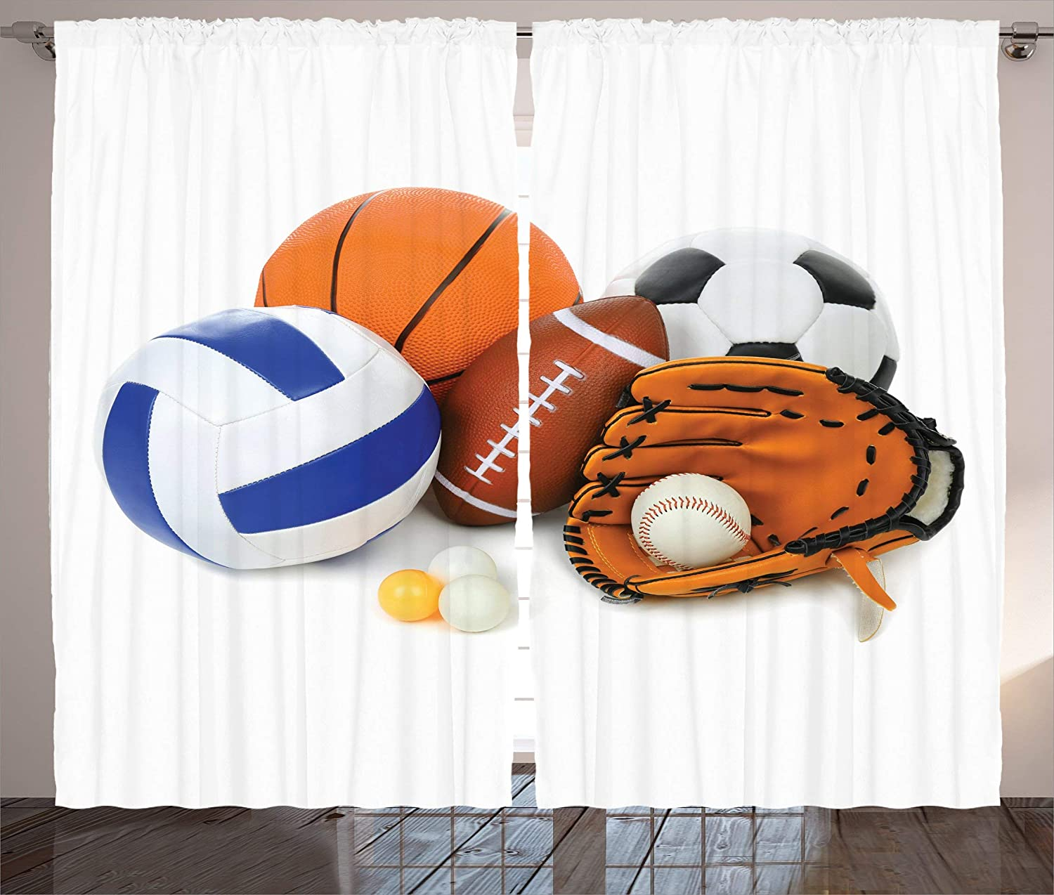 Sonernt Sports Curtains Many Together Wholesale Ranking TOP13 Different All Balls