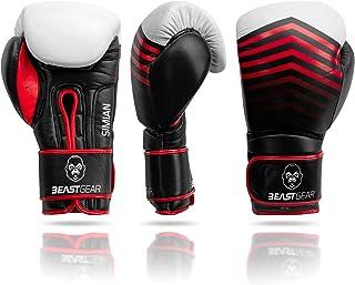 comprar comparacion Beast Gear Guantes de Boxeo – Guantes Entrenamiento de Piel de Vacuno Modelo Simian - para Sacos de Boxeo, Sparring, Kickb...