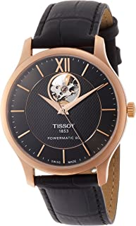 Tissot Tradition Powermatic 80 Open Heart Mens Watch T0639073606800