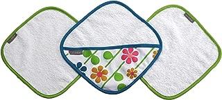 JJ Cole Washcloth Summer Garden & Bath Mitt Set, Pink/Green/Blue/Yellow/White/Orange