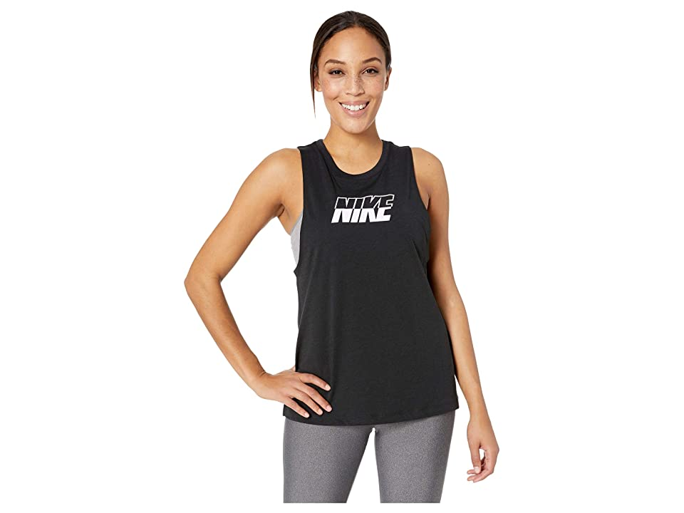Nike Training Sport Distort Tank Graphics (Black/White) Women