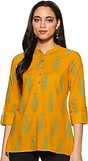 9b827e723f39 Amazon.in: Yellows - Tops, T-Shirts & Shirts / Western Wear ...