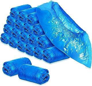 com-four® 200x Couvre-Chaussures jetables de Haute qualité 5g par Couvre-Chaussures - Couvre-Chaussures en Plastique et im...