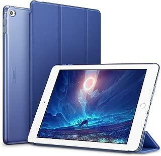 Funda de silicona para iPad Air 2 ESR [Auto-Desbloquear] y función de apoyo [Ligera] Funda Smart Cover de piel sintética y plástico duro transparente mate para Apple iPad Air 2 - Azul marino