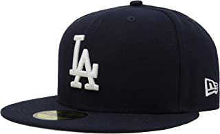 New Era 59Fifty MLB Basic Los Angeles Dodgers Navy Blue Fitted Headwear Cap (7 1/2)