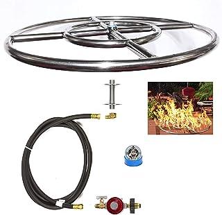 EasyFirePits CK Kit Basic DIY Build Your Own Propane Fire Pit Kit w/o Burner (Ring Burner, 12.00)