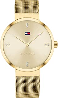 Tommy Hilfiger Women's Champagne Dial Ionic Thin Gold Plated 2 Steel Watch - 1782217