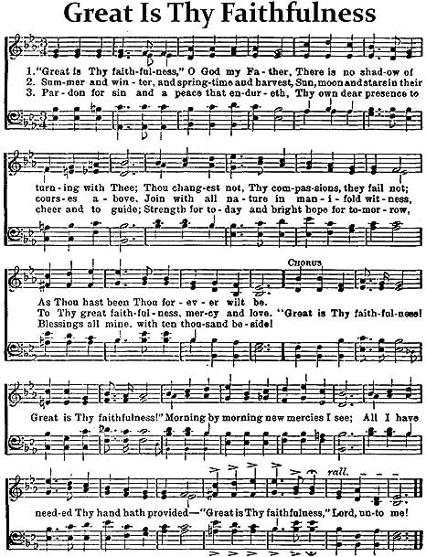 Amazon Com Wallbuddy Great Is Thy Faithfulness Hymn Sheet Music Church Sheet Music Christian Hymn Print 24 X 36 Parchment Posters Prints Dear winter, download audio mp3 dear winter, 128kbps dear winter, full hq 320kbps dear winter, mp3. church sheet music