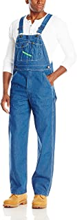 Key Apparel Men's High Back Bib Overall, Indigo, 56W x 30L