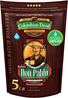 5LB Don Pablo Colombian Decaf – Swiss Water Process Decaffeinated –..