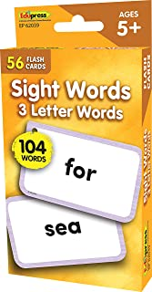 Teacher Created Resources Sight Words Flash Cards - 3 Letter Words