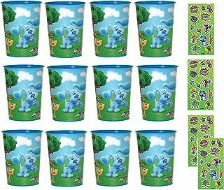 Blues Clues Birthday Party Supplies Favor Bundle includes 12 Plastic Cups