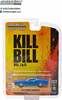 Greenlight 1971 Dodge Charger from The Classic Film Kill Bill Collectibles 1:64 Scale GL Hollywood Series 10 Die Cast Vehicle