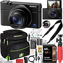 Sony Cyber-Shot RX100 VII RX100M7 4K UHD Camera DSC-RX100M7 w/Zeiss 24-200mm Zoom Lens Power Bundle with Deco Photo Strap ...
