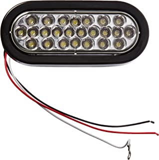 """Buyers Products 6"""" Oval LED Recessed Strobe Light, Clear"""