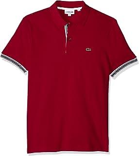Lacoste Men's Short Sleeve Semi Fancy Petit Pique Slim Polo, PH3187