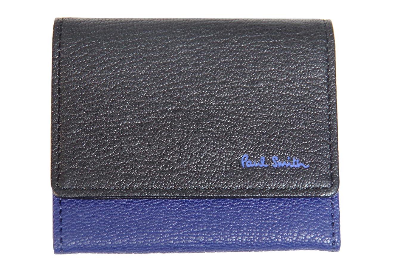 エントリ海藻遅滞[ポール?スミス] 小銭入れ 財布 ブルー×ブラック C13010 新品
