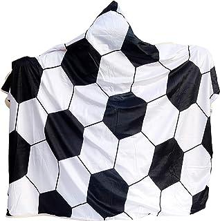 Soft Soccer Hooded Blanket for Adults, Wearable Blanket...