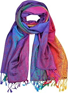 NYFASHION101 Elegant Colorful Paisley Soft Pashmina Scarf Shawl Wrap NBH1401Y