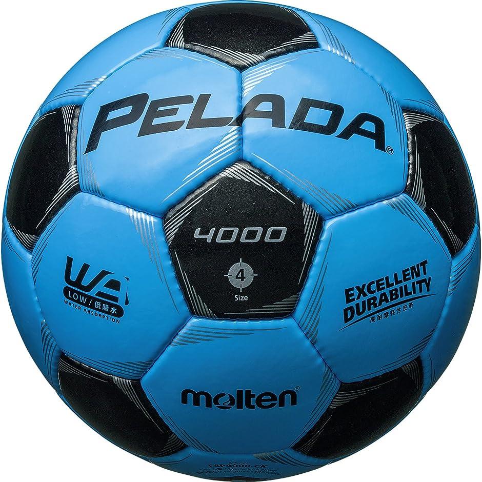 規制小康過度にmolten(モルテン) サッカーボール ペレーダ4000   4号 サックス×黒 F4P4000-CK