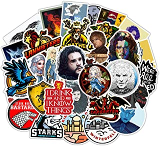 Game of_Throne Waterproof Stickers of 50 Vinyl Decal Merchandise Laptop Stickers for Laptops, Computers, Hydro Flasks, Ska...
