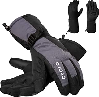 ORORO Heated Gloves with Rechargeable Li-ion Battery for Men and Women, 3-in-1 Warm Gloves for Hiking Skiing Motorcycle
