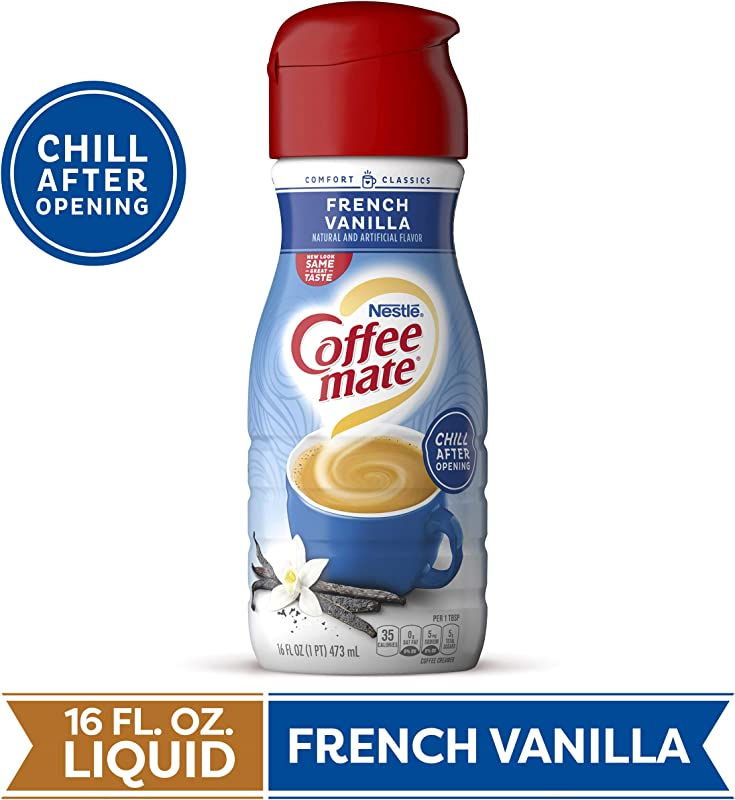 Coffeemate Liquid French Vanilla 16 Ounce Pack Of 6