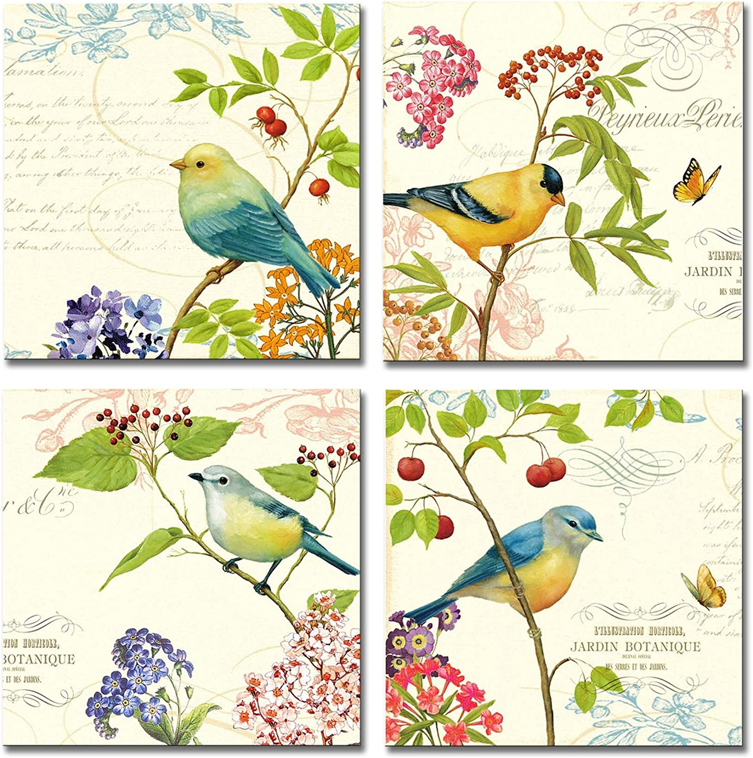 Large Paintings Wall Art - 5 ☆ popular Birds on Butte and Outlet SALE The of Bloom Trees